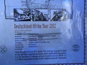 Info-Plakat zur Deutschland-Afrika-Tour 2002
