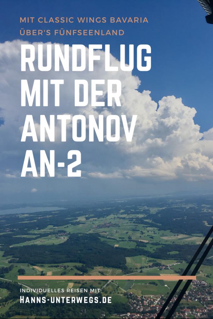 Pin me: Rundflug mit der Antonov AN-2 über's Fünfseenland