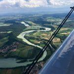 Im Steigflug über dem Lech