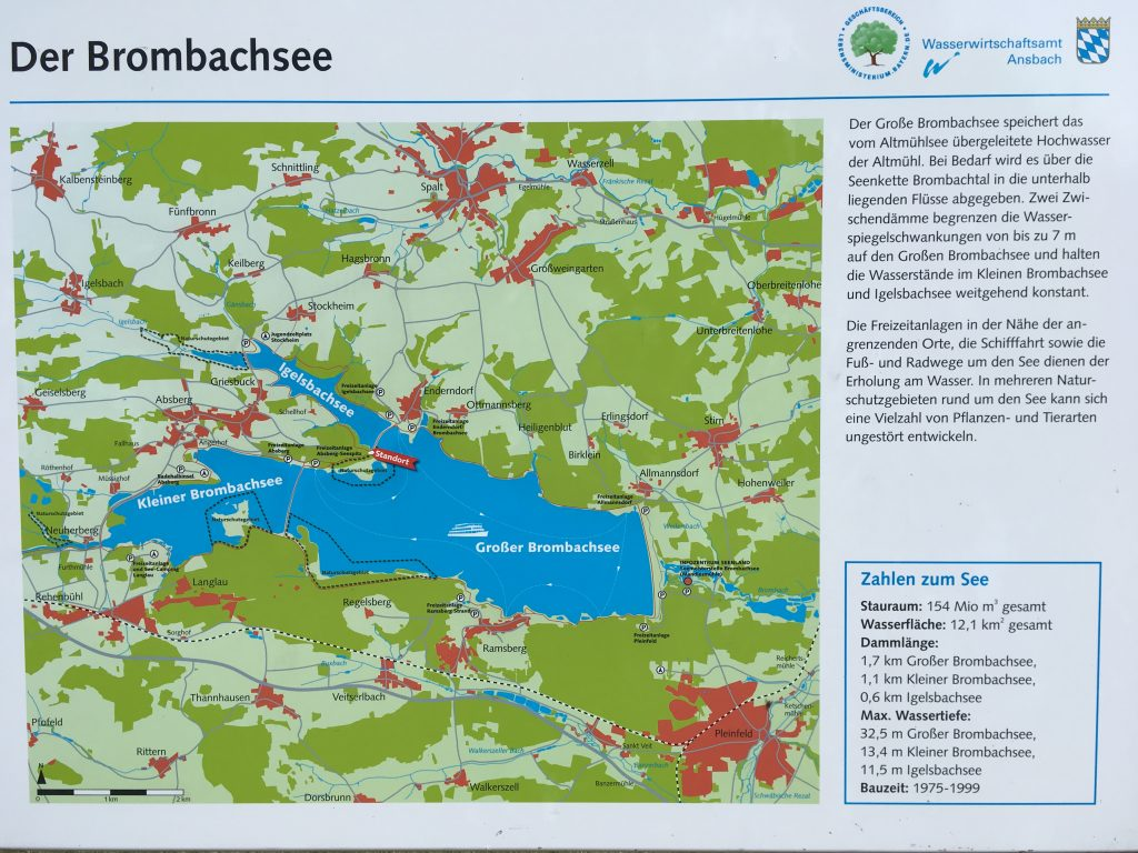 Infotafel Brombachsee vom Wasserwirtschaftsamt Ansbach