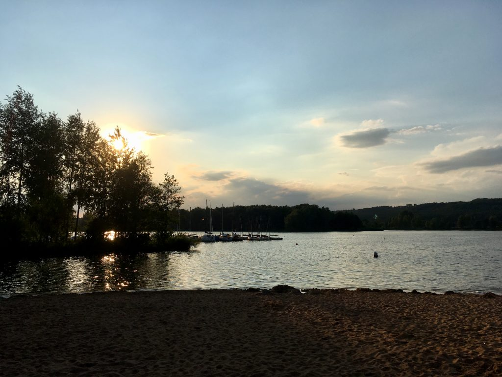 Abendstimmung am Camping Langlau am Brombachsee