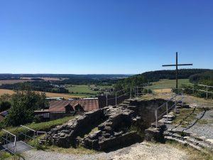 Blick von der Burgruine Schaumberg