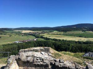 Blick von der Schaumburg auf den südlichen Thüringer Wald