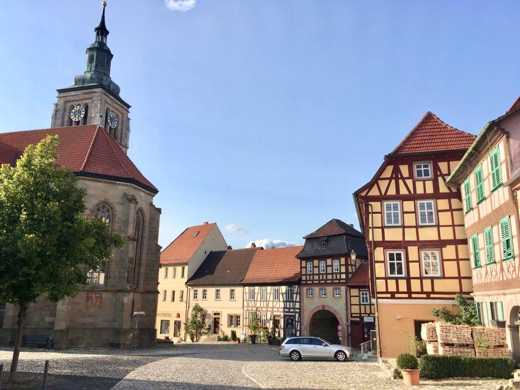 Stadtplatz in Königsberg in Bayern