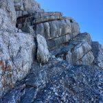 Schuttbänder am Abstieg vom Birnhorn