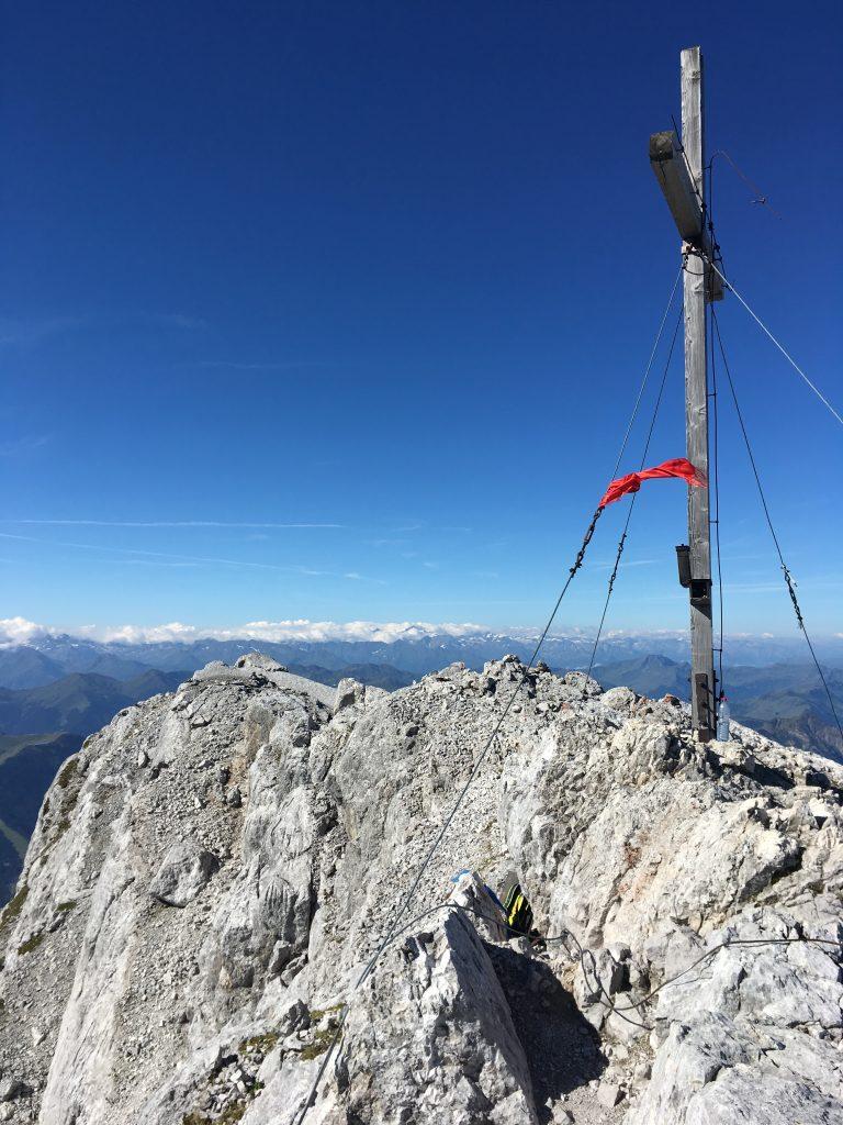 Auf dem Gipfel des Birnhorn in 2.634m