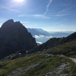 Aufstieg von der Passauer Hütte früh am Morgen