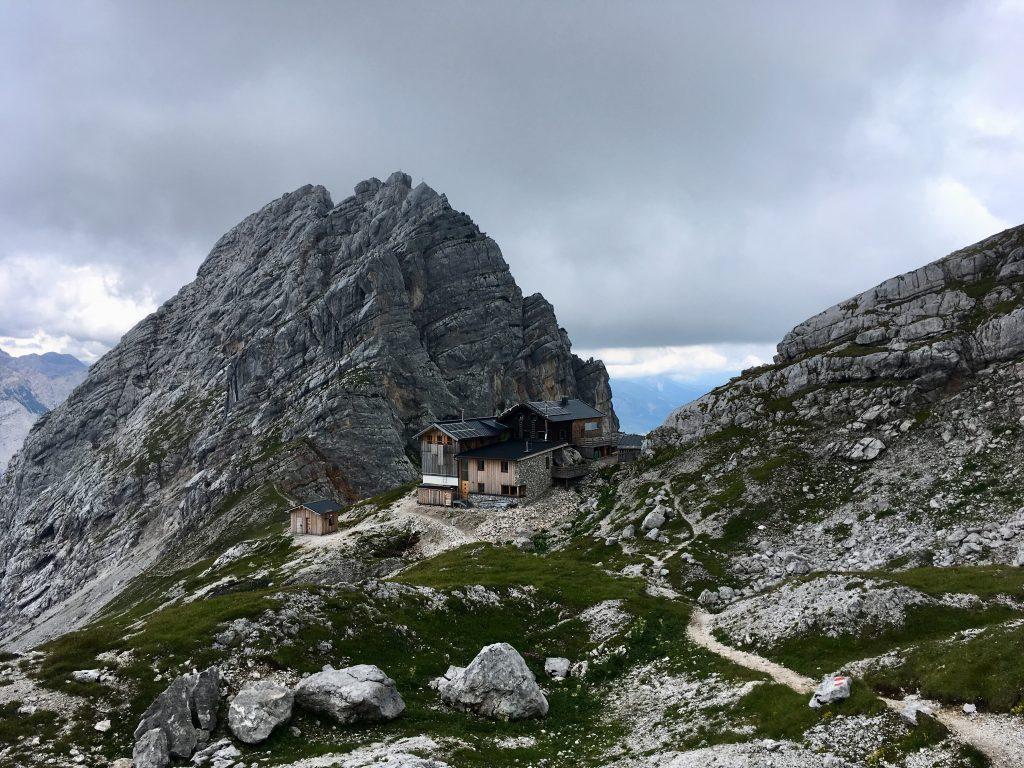 Blick zurück zur Passauer Hütte