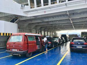 RedBulli an Bord nach Cres