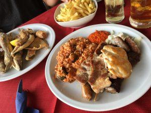 Fleisch und Fisch im Überfluß
