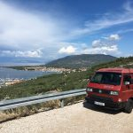 Blick auf die Bucht von Cres in Kroatien