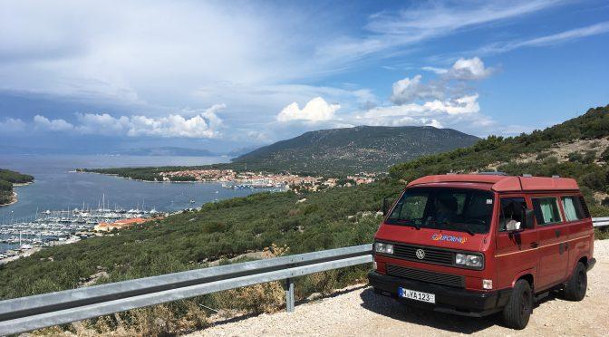 Mit dem RedBulli auf Cres in Kroatien