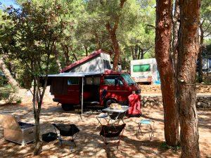 Angekommen auf dem Camping Slatina auf Cres