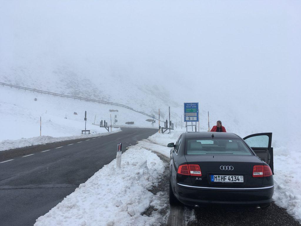 Schnee am Jaufenpass