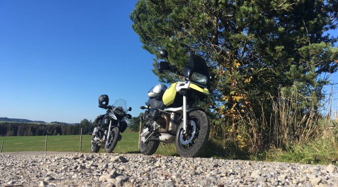 Herbstliche Motorradtour einmal rund ums Allgäu
