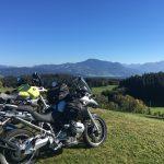 Im südlichen Allgäu auf Motorradtour