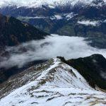 Rutschiger Abstieg von der Mutspitze