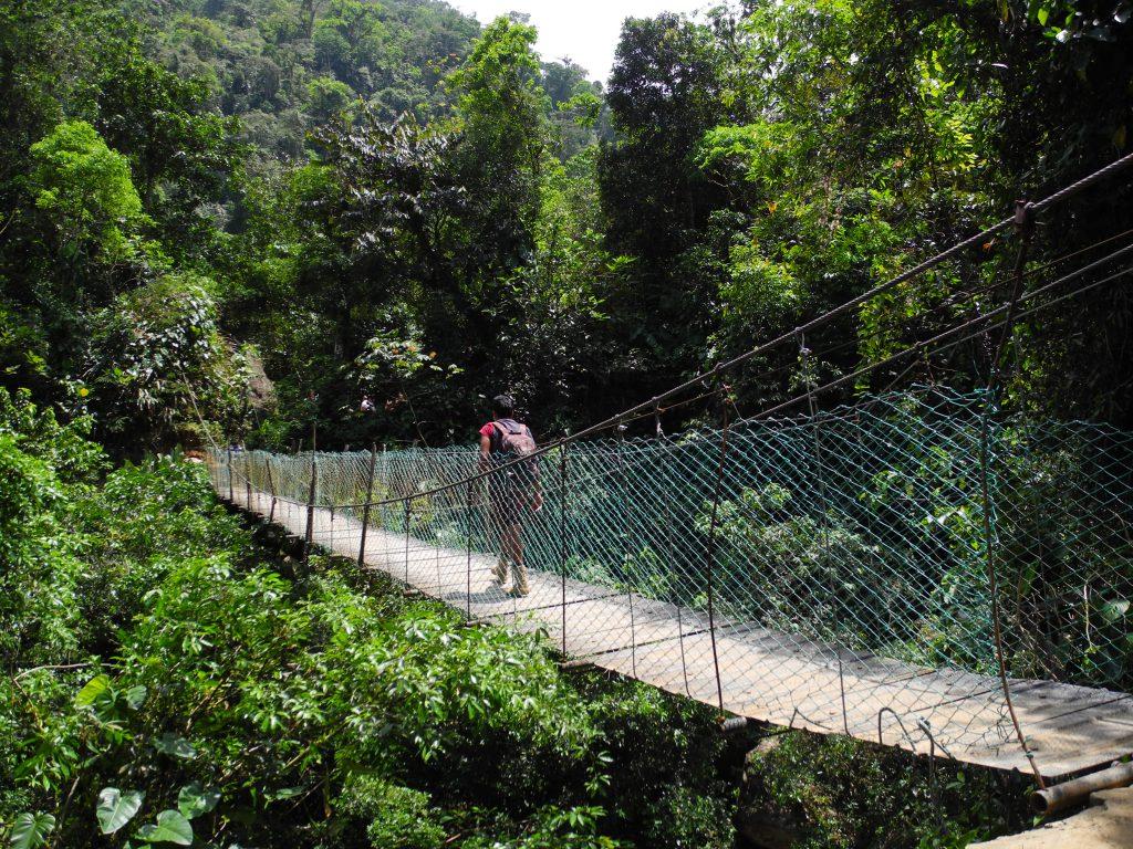 Hängebrücke über den Rio Buritaca