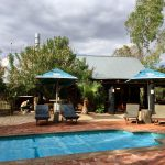 Pool im Urban Camp in Windhoek