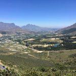 Blich zurück vom Franschhoek Pass