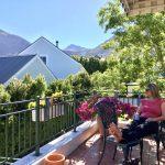 Dachterrasse der Villa-Roux in Franschhoek