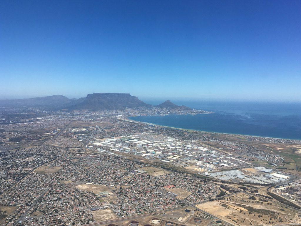 Im Anflug auf Kapstadt