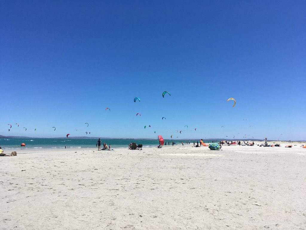 Kitesurfer in Langebaan