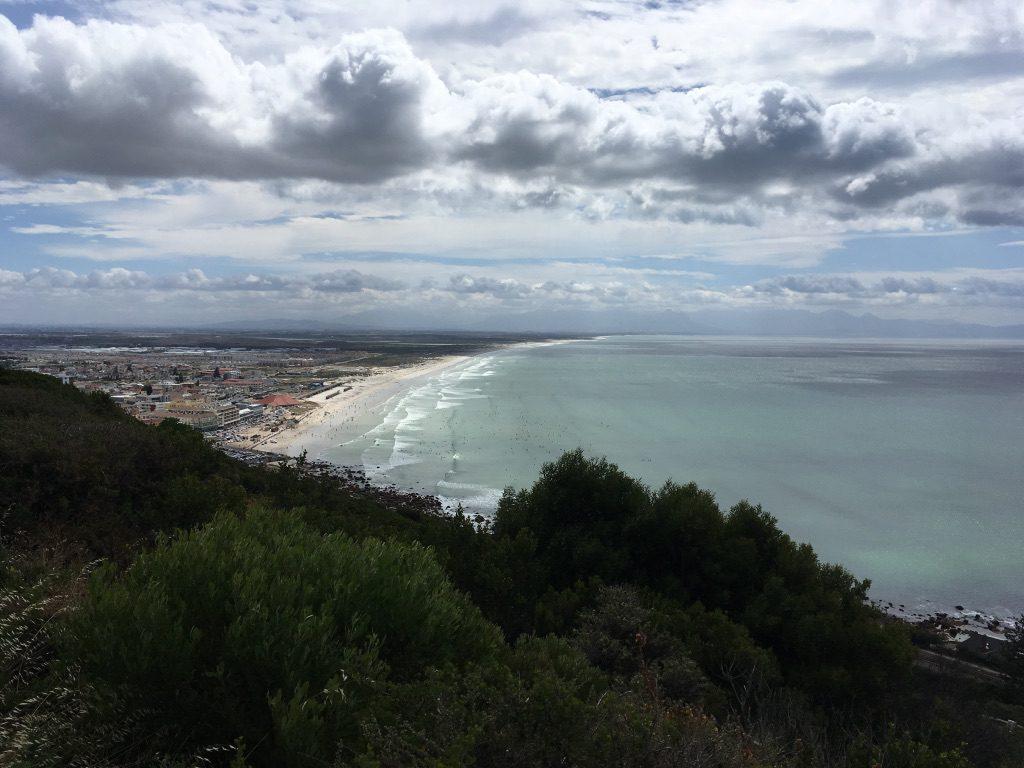 Muizenberg mit seinen langen Stränden an der False Bay