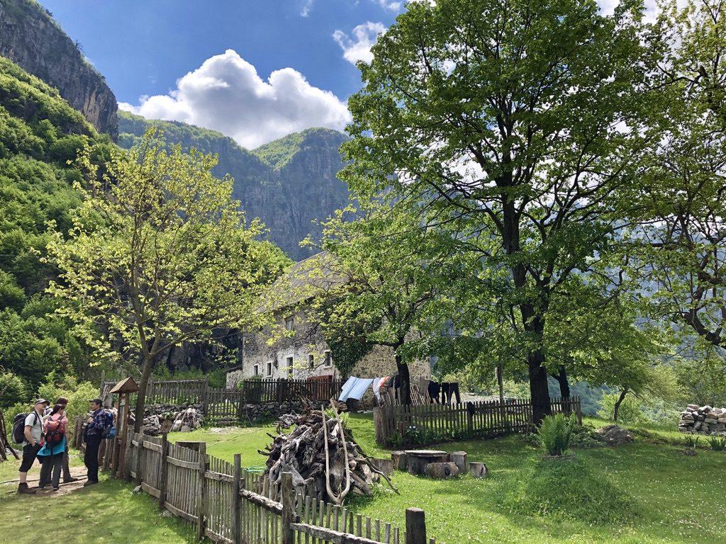 Camping und Restaurant hoch über Theth