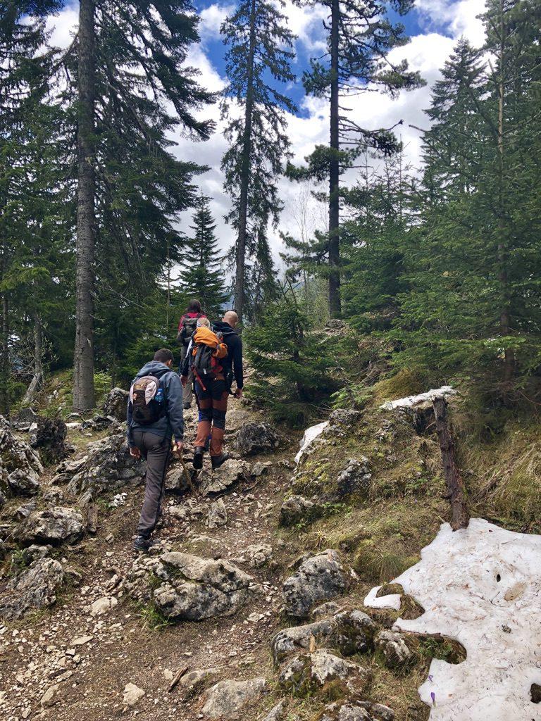 Wanderweg im Kosovo