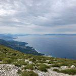 Weitblick entlang der Albanischen Riviera bis Korfu