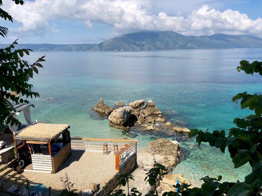 Aussicht auf die Bucht von Vlorës