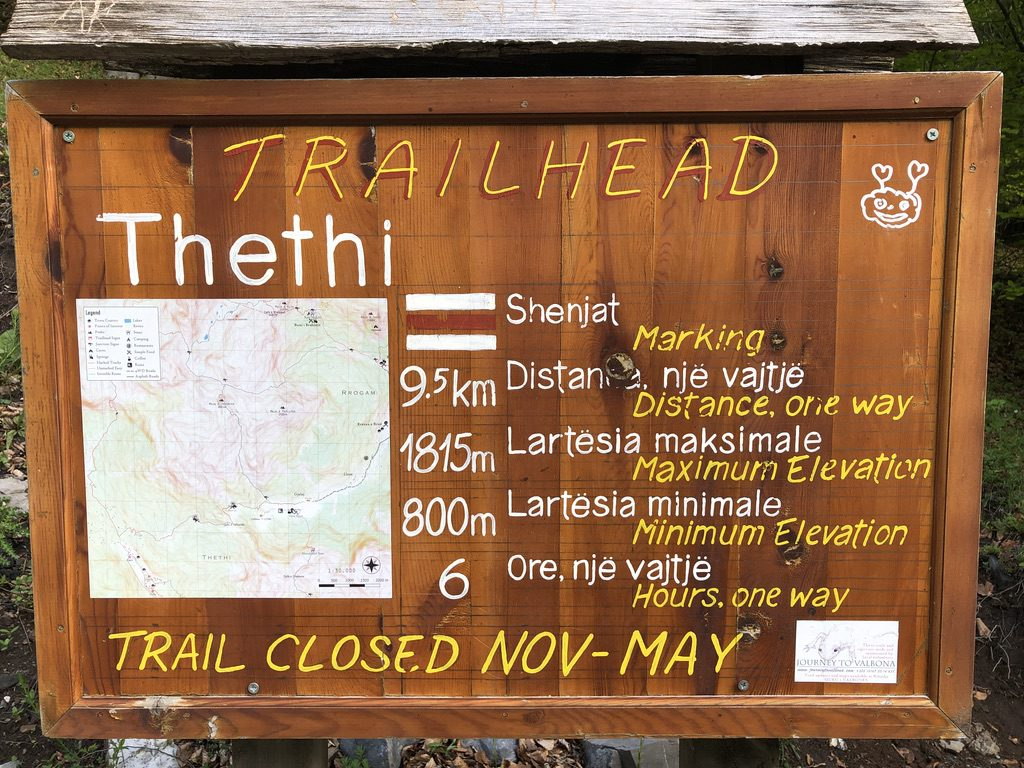 Wanderweg von Valbona nach Theth