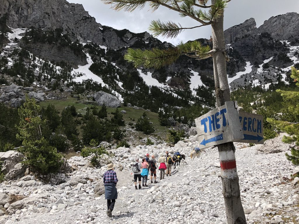 Anstieg zum Valbona-Paß