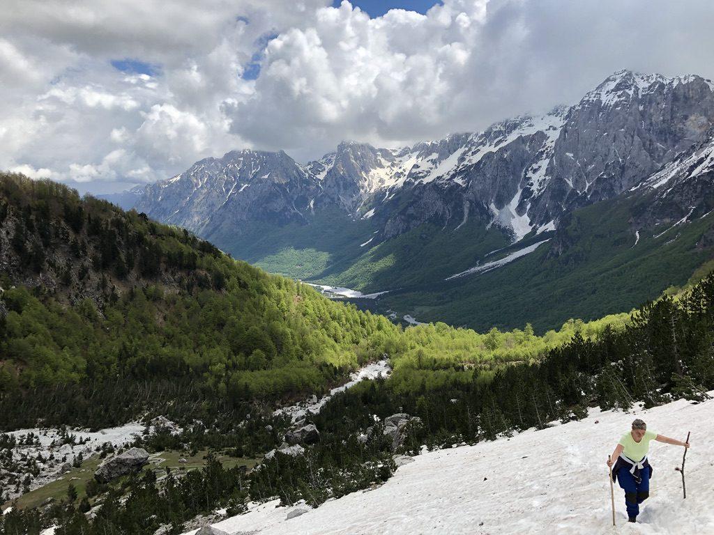 Steiler Anstieg zum Valbona-Paß