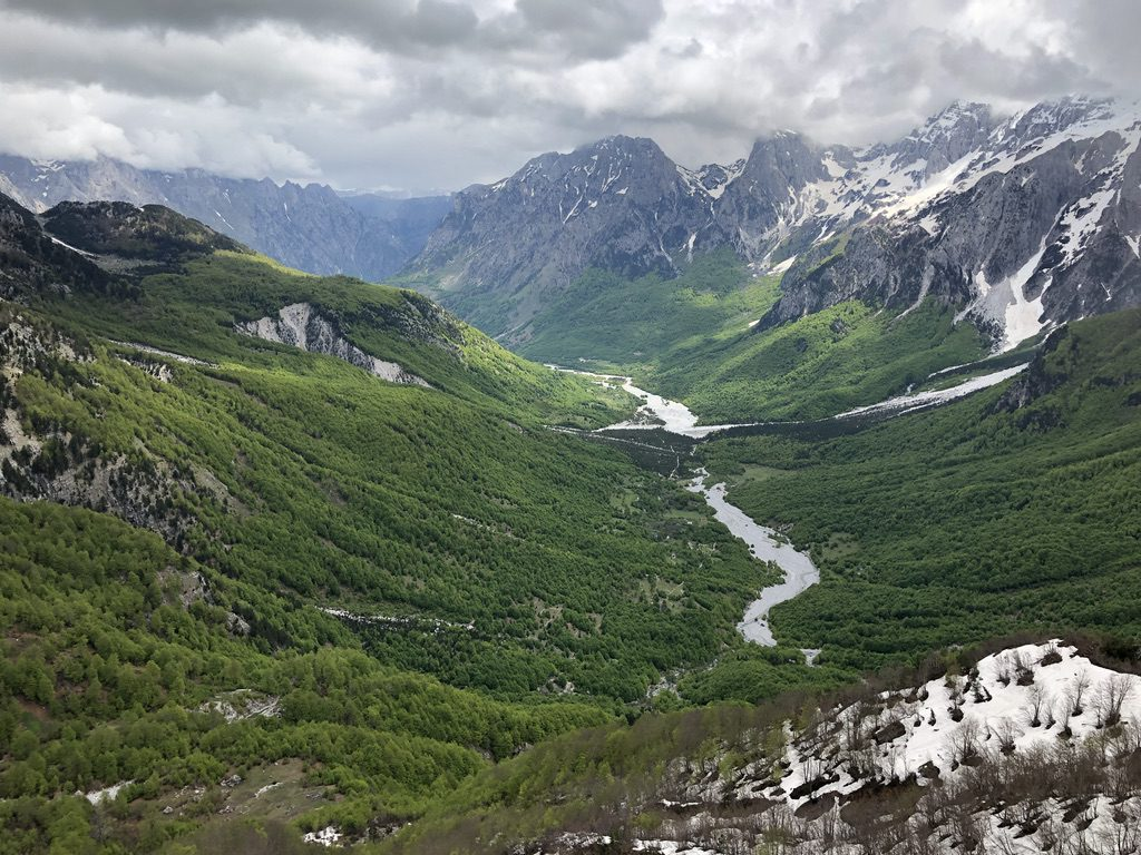 Blick zurück ins Valbona-Tal