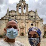 Maskenpflicht im Arkadi Kloster
