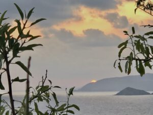 Sonnenaufgang in Bali auf Kreta