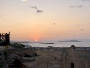 Sunset von der Pension Nora aus