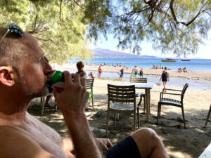 Am Strandcafé von Preveli Beach