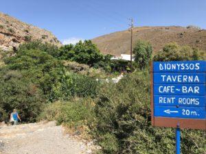 Weg zur Taverne Dionyssos