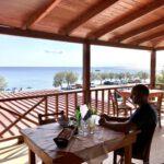 Bloggen in der Taverna Amoudi-Preveli