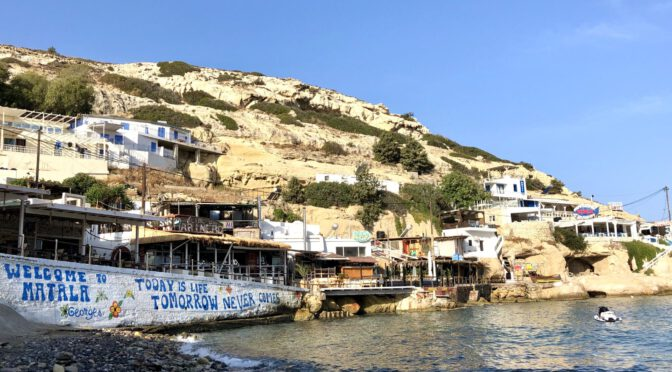 Kreta Tag 12 bis 14: Über Agia Galini ins Hippiedorf Matala