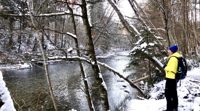 Eisige Winterwanderung im verschneiten Mangfalltal