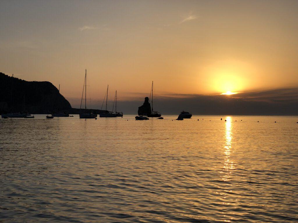 Sunset an der Cala Benirrás
