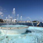 Blick auf den Hafen von Santa Eulária