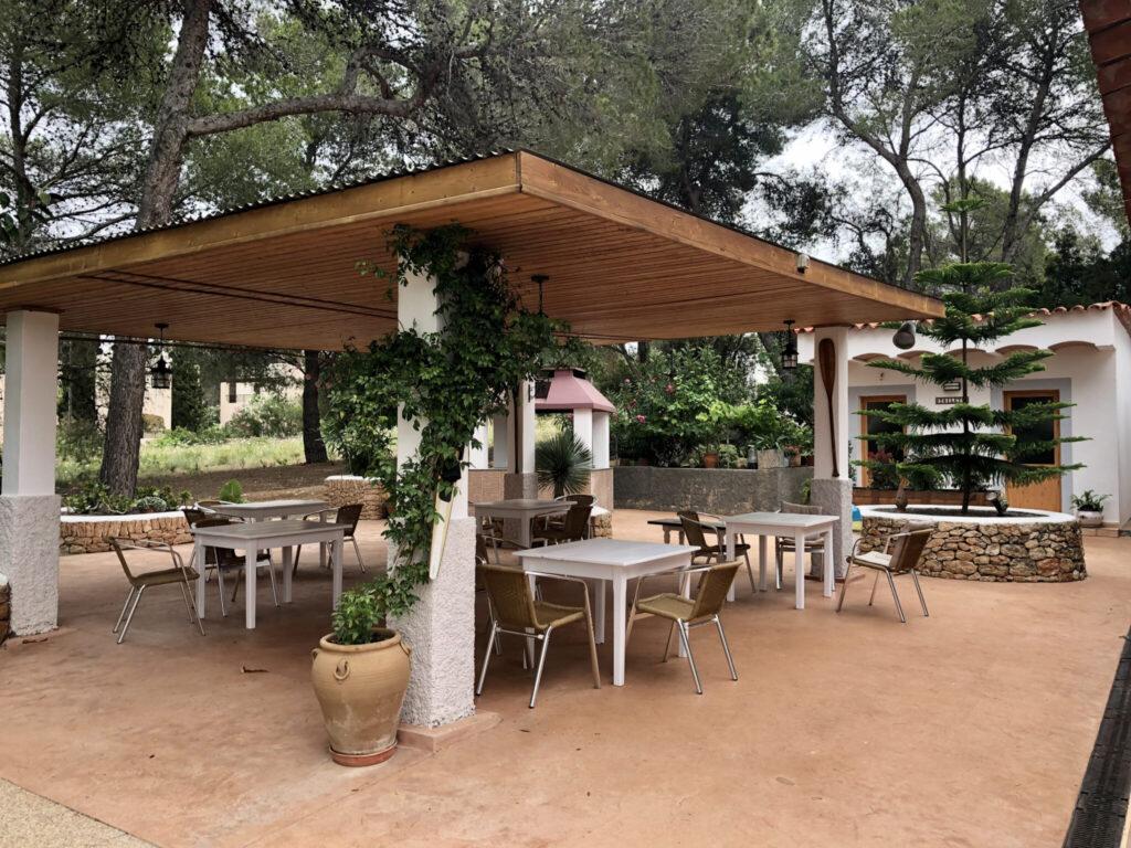 Frühstücksterasse im Las Tres Golondrinas
