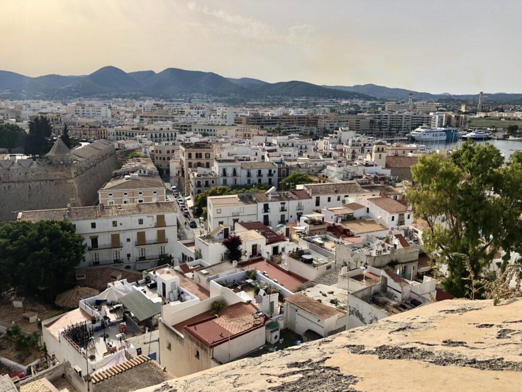 """Aussicht von der """"Dalt Vila"""" in Eivissa"""