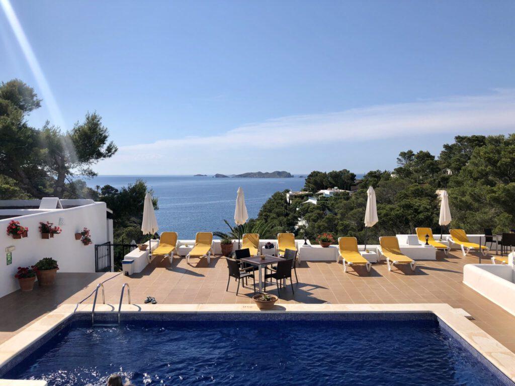 Top Aussicht vom Pool im Cala Moli