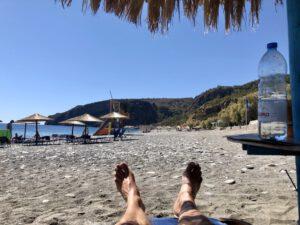 Soúgia Beach vor dem Santa Irene